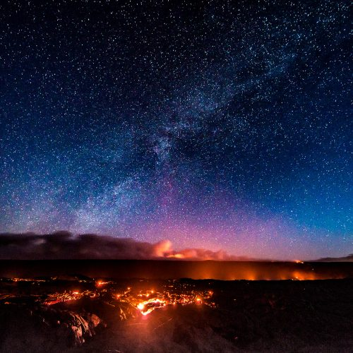 Hawaii Volcanoes National Park notturno