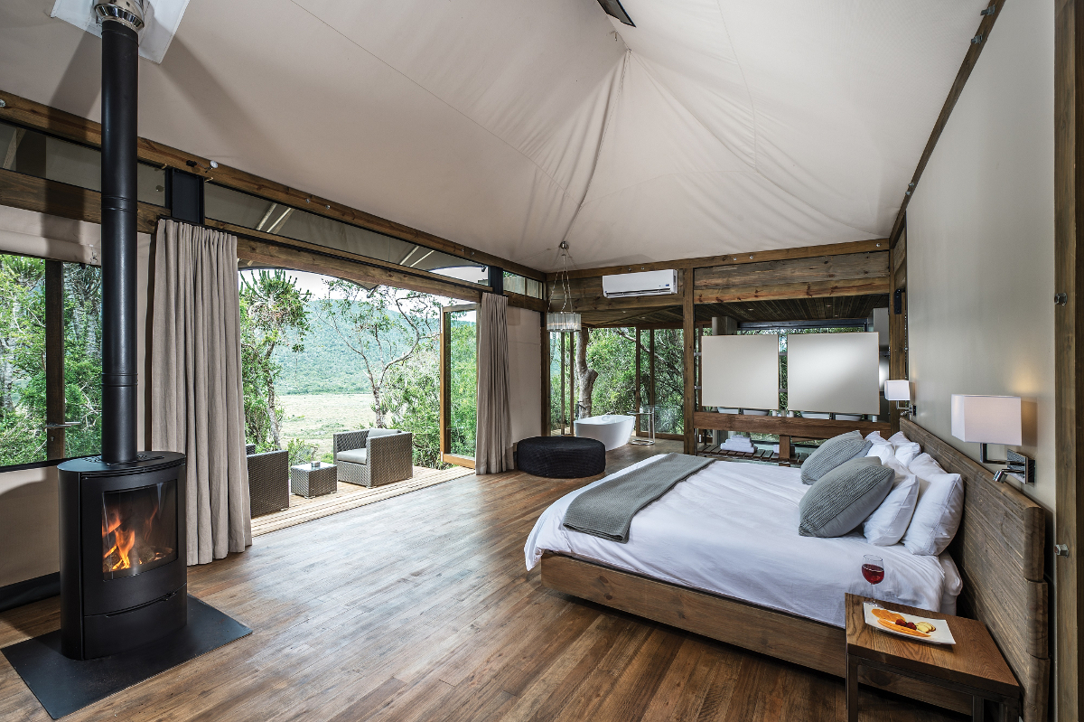 Settlers Drift Luxury Tented Lodge at Kariega Private Game Reserve Sudafrica